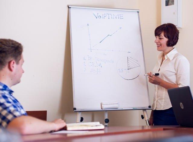 Команда Voiptime на совещании